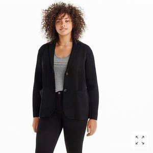 • J. Crew • Merino Wool Sweater Blazer Black M